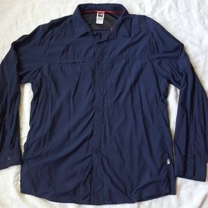 The North Face Navy Blue Lightweight Outdoor Shirt